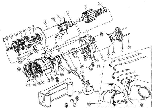 ewi9000 12500 1 t max winches ew series winch parts list warn winch parts diagram at soozxer.org